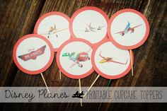 Family Movie Night with Disney Planes {Cupcake Recipe   Disney Planes Cupcake Toppers Download}