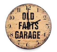 Old Farts Garage Clock Christmas Gifts For Men, Milestone Birthdays, Birthday Gifts, Clock, Man Cave, Garage, Gift Ideas, Birthday Presents, Watch