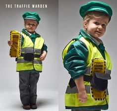 LADYLAND TERRORS OF LONDON - Kids halloween costumes - The traffic warden... argh! www.thisisladyland.com Photographer: Dee Ramadan Art Director: Emma Scott-Child
