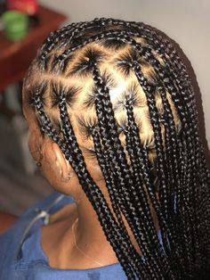 85 Box Braids Hairstyles for Black Women - Hairstyles Trends Box Braids Hairstyles For Black Women, Cute Braided Hairstyles, African Braids Hairstyles, Braids For Black Hair, Weave Hairstyles, Hairstyles Games, Ethnic Hairstyles, Beautiful Hairstyles, Protective Hairstyles