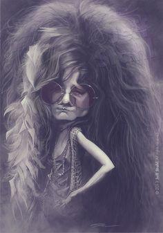 Janis Joplin, by Jeff Stahl by JeffStahl on deviantART