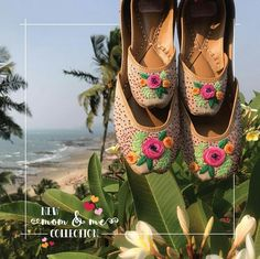 @manidrehar❤ Indian Shoes, Navy Flats, Indian Wear, Wedding Shoes, Casual Shoes, Peep Toe, Jewelry Design, Footwear, Sandals