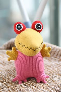 T8 Stuffed Crocodile  toy , plush girl doll , baby stuffed toy - handmade fabric doll  (1,3)