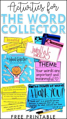 If you love The Word Collector by Peter H. Reynolds, then you'll love this post! It's packed with ELA activities and ideas to use alongside this amazing read-aloud. They focus on everything from theme to comprehension to vocabulary and MORE! There's even a free printable that you can use in grades kindergarten, first grade, second grade, third grade, fourth grade, and fifth grade! Teachers will love seeing the many activities you can use with this picture book and students will benefit from the