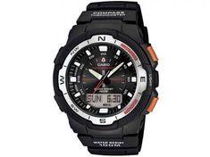 Relógio Masculino Casio Outgear SGW-500H-1BVDR - Anadigi Resitente à Água Calendário