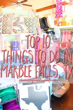Looking for fun things to do in the Texas Hill Country? Check out these top 10 things to do in Marble Falls, Texas and pay them a visit! #VMWinMarbleFalls