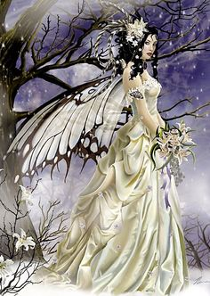 "Winter or Ice fairy (NENE THOMAS) ❤❦♪♫Thanks, Pinterest Pinners, for stopping by, viewing, re-pinning, & following my boards. Have a beautiful day! ^..^ and ""Feel free to share on Pinterest ♡♥♡♥ #fairytales4kids #elfs #Fantasy #fairi"