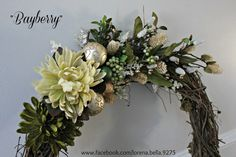 "Beautiful ""Bayberry"" Holiday Wreath"
