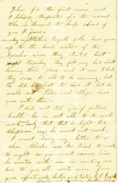 Letter written by Ma in 1861. It's so great to see her famous handwriting! (Page 4)
