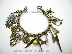 Steampunk Harry Potter Charm Bracelet