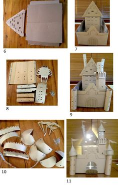 Build a Castle from just cardboard, milk bottles and paperclips. #ecofriendly #upcycling #recycling #green #castle #cardboard #boxart
