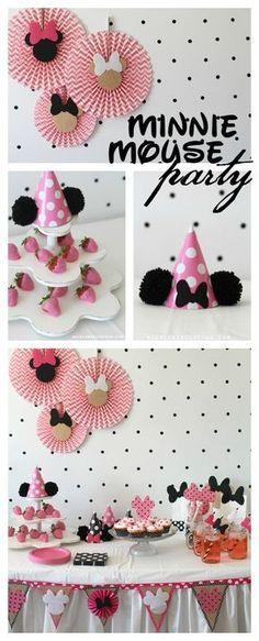 minnie mouse party polka dot a girl and a glue gun