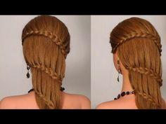 Прическа с плетением на каждый день! Braided hairstyle for long hair!