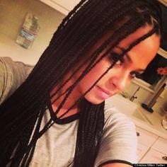 Christina Milian Debuts 'Poetic Justice' Box Braids (PHOTOS ...