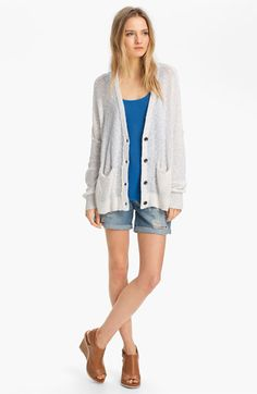 rag & bone/JEAN Cardigan, Tank & Shorts | Nordstrom.  This is an outfit formula I could live in.  I would, however, wear longer shorts.