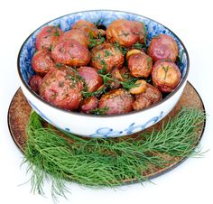 Garlic Roasted Potatoes with Dill