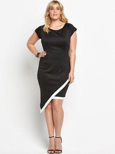 AX PARIS CURVE Asymmetric  Dress  Sizes 16-26 | littlewoodsireland