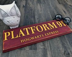 Harry Potter - Platform 9 3/4 - Poudlard - Wall Decor - panneau en bois - décor de Harry Potter - bois signe - Harry Potter - Poudlard Express