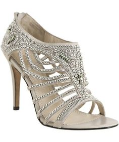 Jean-Michel Cazabat : light grey leather chain detail 'Cheri' sandals