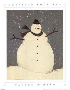 Snowman ... Warren Kimble