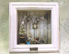 Christmas Miniature Shadow box by AhtheMacabre on Etsy, $25.00