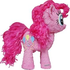 Pull String My Little Pony Pinata is shaped like Pinkie Pie. Pinkie Pie Pinata is the perfect My Little Pony party game. Guests pull ribbons to release the secret door. My Little Pony Party, My Little Pony Pinata, All My Little Pony, Pinkie Pie, Anniversaire My Little Pony, My Little Pony Decorations, Filly, Thema Deco, 3rd Birthday Parties