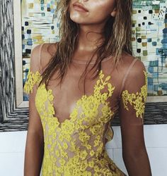 //pinterest @esib123 // #style #inspo #fashion  yellow dress