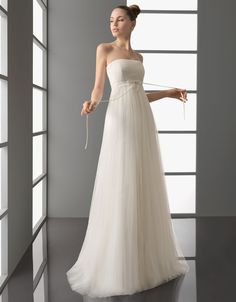 2012 Simple Tulle Maternity Wedding Dress with Jacket  SPECIAL PRICE: $112.00