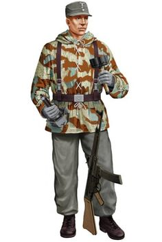 WEHRMACHT - Hauptgefreiter, Pz.Jgd.Abt. 654, Nomandía 1944 Ww2 Uniforms, German Uniforms, Military Uniforms, German Soldiers Ww2, German Army, Native American History, American Civil War, Army Drawing, Germany