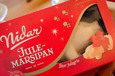 norwegian tradition: whoever finds the almond in the pudding wins the marzipan pig