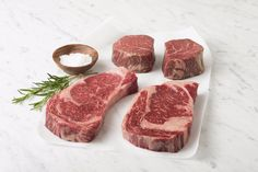 Wagyu Holiday Gift Set | Lone Mountain Wagyu   2 Ribeye and 2 Filet Mignon 100% Fullblood Wagyu Steaks. Perfect gift for your favorite foodie!