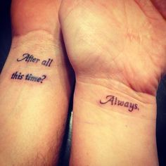 harry potter couple tattoos - Google Search