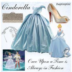 """""""Disney Style: Cinderella"""" by trulygirlygirl on Polyvore.    No me gusta mucho Cenicienta pero este vestido es diferente! :)"""