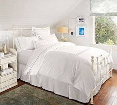 Pearl Embroidered 280-Thread-Count Duvet Cover & Shams | Pottery Barn