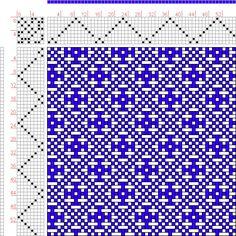 Hand Weaving Draft: Modified Birds Eye, KB, 8S, 8T - Handweaving.net Hand Weaving and Draft Archive