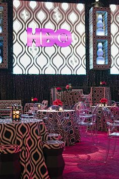 HBO Golden Globes Party Billy Butchkavitz design in collaboration with Set Masters