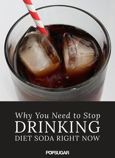 Can't drop your diet soda habit? These reasons, like lowering your chance of diabetes and altering your mood, will convince you to ditch the nutrient-poor beverage and reach for something a bit healthier. Soda Addiction, Remedies For Tooth Ache, Diet Pepsi, Stop Drinking, Nutrition Tips, Fitness Nutrition, Weight Gain, Loosing Weight, Weight Loss