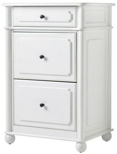 Essex File Cabinet $269  sc 1 st  Pinterest & 3-Drawer File Cabinet Wood Rustic Pine White Finish Country Shabby ...