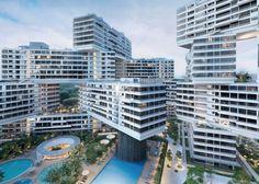 Vincitore assoluto Edificio dell'anno: The Interlace, villaggio verticale, Singapore. Oma/ Ole Scheeren