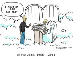 Steve Jobs Heaven App - From ForwardEverForward.com (where forwarded emails come to rest).