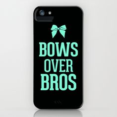 Bows over Bros Cheer Tiffany iPhone & iPod Case
