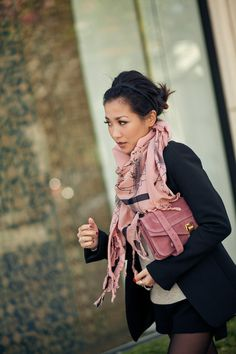 Blazer: Theory  Amazing Bag: Proenza Schouler  Scarf: YSL