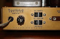 Heathkit W-5M Mono Block Amplifier, Heathkit WA-P2 Pre-Amplifier, and Tuner