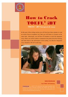 #Toefl iBt Integrated Essay - This task requires combined skills which trouble some students - Get more TOEFL #Writing help >> http://www.businessenglishace.com/english-writing-clinic/
