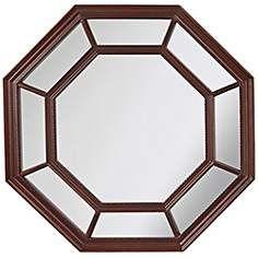 """Feiss Camden 30"""" High Octagon Wall Mirror"""