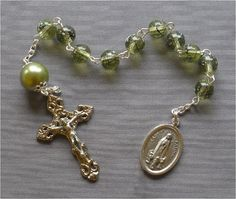 Handmade Our Lady of Fatima  8mm Olive Green by JaysReligiousGifts
