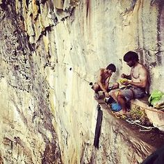 Livin' on the ledge...oh my these images of people resting halfway up are always so serene looking