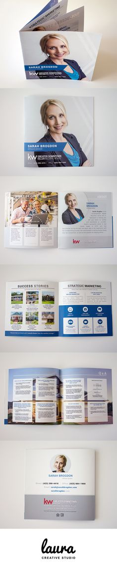 Square Real Estate Booklet | View other recent projects created by Laura Creative Studio: http://lauraelisefreeman.com/portfolio/recent-projects