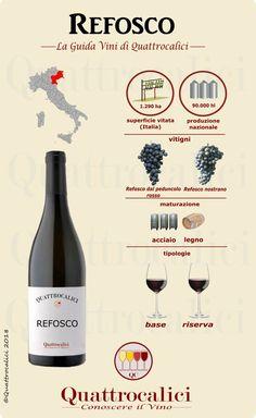 All Refosco wines on Quattrocalici wine guide. Tutti i vini Refosco nella Guida vini di Quattrocalic Sweet Champagne Brands, Spiral Wine Cellar, Wine Chart, Sweet White Wine, Wine Tasting Party, Tasting Room, Wine Guide, Wine Wednesday, Italian Wine