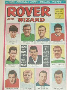 Rover and Wizard 15/02/69. Joe Kinnear top left